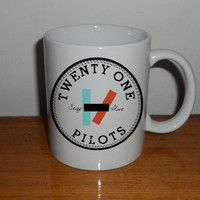 twenty one pilots, 21 pilots band mug,  Coffee Mug, Tea Mug, Mug for Gift,mug coffee, mug tea, size 8,2 x 9,5 cm