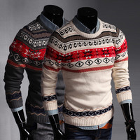 Mens Slim Fashionable Christmas Sweater