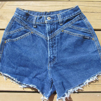 High Waisted Rockies Shorts Size 7 by DenimAndStuds on Etsy