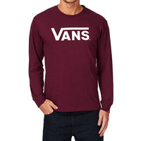Vans Classic Long Sleeve T-Shirt - Burgundy