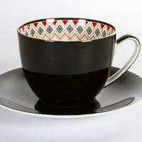 T2 Toto Jumbo Cup and Saucer Black