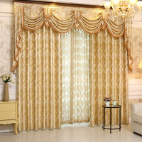 Style Luxury Jacquard Curtains For Living Room Window Valance for Bedroom