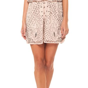 Embellished Romper - Rose Cloud by Dex Black Tape