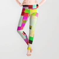 GROWN UP PIXELS Leggings by Chrisb Marquez