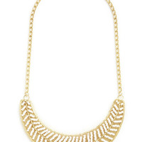 ModCloth Statement By the Light of the Swoon Necklace in Cloud