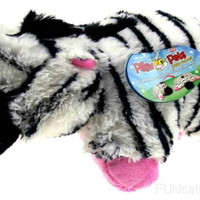 "Pillow Pets Pee Wees Zippity Zebra Seen On TV 2011 11"" Stuffed Animal Plush Toy"