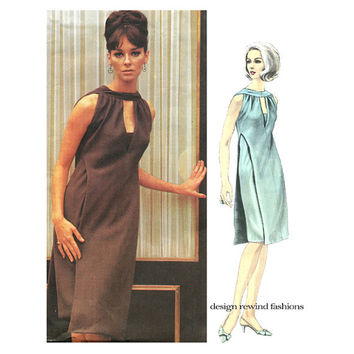 1960s MoD VOGUE 1474 COCKTAIL DRESS Pattern Evening Gown Pattern Jacques Heim Designer Vogue Paris Original Bust 34 Womens Sewing Patterns