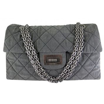 Chanel Reissue Xxl Jumbo Black Denim Limited Edition Bag