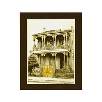 New Orleans Mansion, ready to frame 4x6 digital art print in 5x7 acid free mat