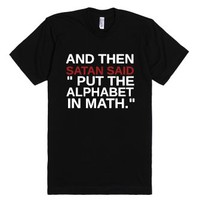 Put The Alphabet In Math-Unisex Black T-Shirt
