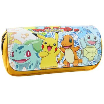 Cartoon pencil case  Pikachu pencilcase Boutique estuches school supplies estojo Stationery gift Coin Pouch Zipper BagKawaii Pokemon go  AT_89_9