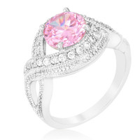Pink Swirling Cocktail Ring