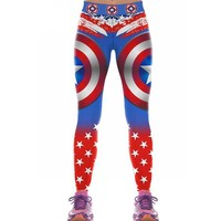 Printed Captain America Leggings