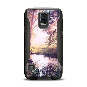 The Vivid Colored Forrest Scene Samsung Galaxy S5 Otterbox Commuter Case Skin Set