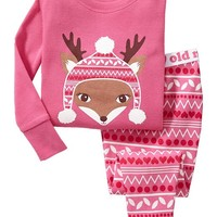 Deer-Graphic PJ Sets for Baby