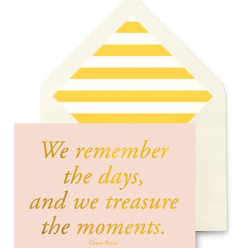We Remember The Days Greeting Card, Single Folded Card or Boxed Set of 8