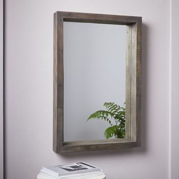Emmerson® Modern Reclaimed Wood Wall Mirror