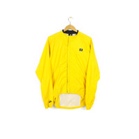 NIKE echelon cycling windbreaker jacket - yellow -  mens medium