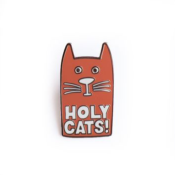 Holy Cats! Enamel Pin