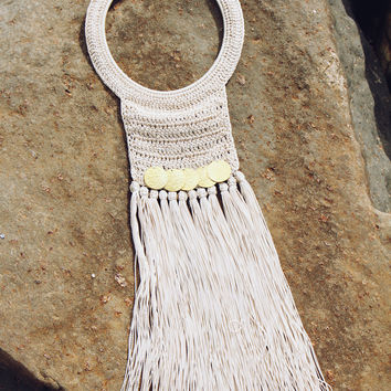 Hamimi Skili Fringe Crochet Necklace