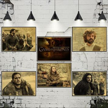 Vintage Paper Retro anime poster Game of Thrones Posters /kid cudi poster/Vintage Home Wall sticker Decor