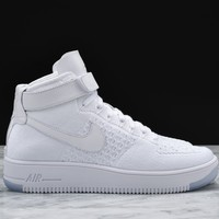 Best Sale AIR FORCE 1 ULTRA FLYKNIT MID - WHITE / WHITE AF1