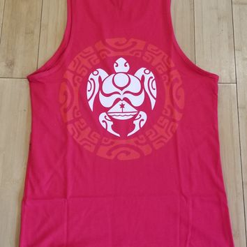 "HIC ""Tortue"" Mens Red Tank Top"