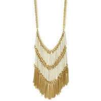 Pree Brulee - Gypsy Pearls Fringe Necklace