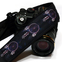 Dream Catcher Camera Strap,  Purple Black Camera Strap, Dreamcatcher, Nikon, Canon Camera Strap, Women Accessories