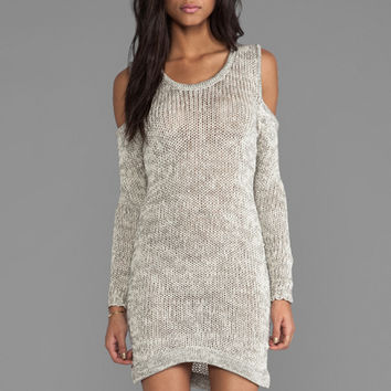 Maurie & Eve Celestine Cut Out Dress in Beige