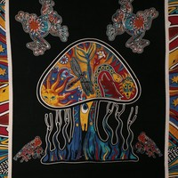 India Psychedelic Mushroom Tapestry By Rajrang
