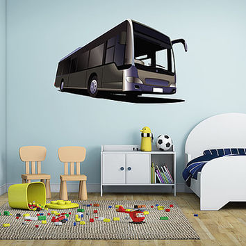 kcik22 Full Color Wall decal Bus transport offer large children's room