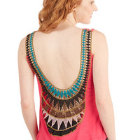 ModCloth Boho Short Length Tank top (2 thick straps) How Upbeat it Is Top
