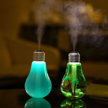 LED Light Bulb Humidifier & Aromatherapy Diffuser