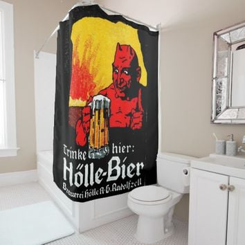 holle bier shower curtain