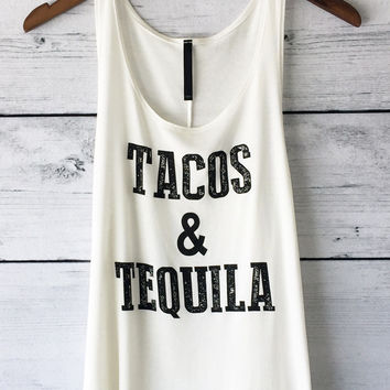Tacos and Tequila Tank (Ivory)