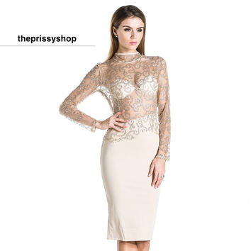 Sparkle on my Body Nude Dress
