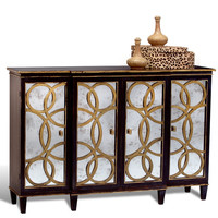 Danielle Mirrored Credenza with Gold