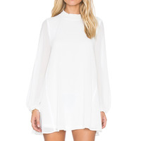 Show Me Your Mumu Junebug Bell Dress in Off White Chiffon