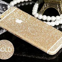Furivy Luxury Bling Crystal Diamond Screen Protector Film Sticker for Iphone 6 4.7'' (Gold)