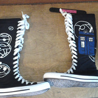 doctor who high top canvas shoes made to order