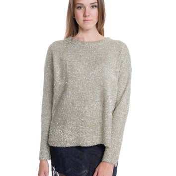 Gold Flame Sweater Top