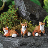Mini Foxes Set of Three - My Fairy Gardens