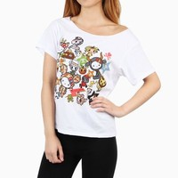 tokidoki x Hello Kitty Off the Shoulder Shirt: Safari