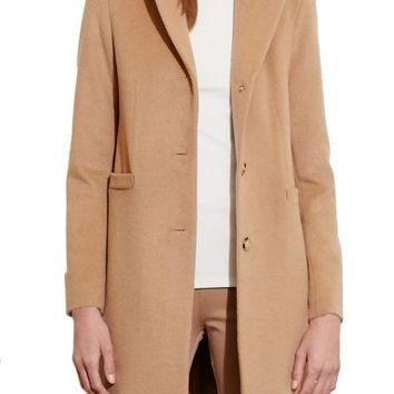 Lauren Ralph Lauren Wool Blend Reefer Coat (Regular & Petite) | Nordstrom