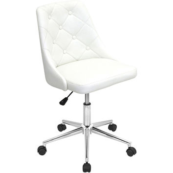 Marche Height Adjustable Swivel Office Chair, White