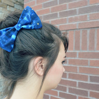 Galaxy Hair Bow by myjustpeachyshop on Etsy