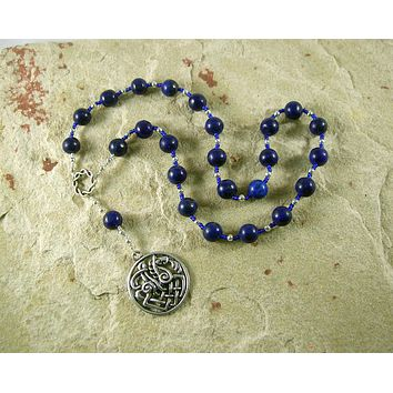 Rune Poem Meditation Beads in Lapis Lazuli