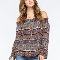 LIVING DOLL Off The Shoulder Womens Peasant Top | Outdoor Wanderlust