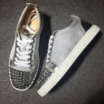 Cl Christian Louboutin Low Style #2084 Sneakers Fashion Shoes